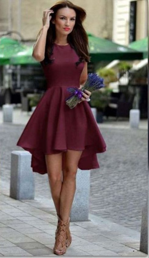 Burgundy Homecoming Dress,Chiffon Homecoming Dresses,Homecoming Gowns, Party Dress,Short