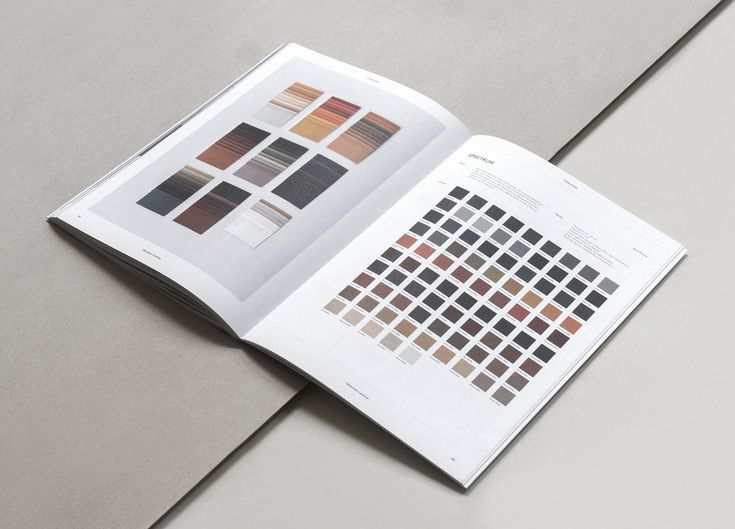 Just some of the colours in our extensive collections. Page from our Brand Book 2nd edition. Designed by Norm Architects.