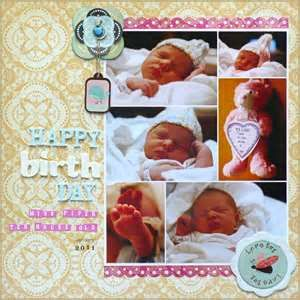 Image Search Results for baby girl scrapbook ideas
