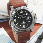 """OFFICINE PANERAI PAM 29 LUMINOR GMT A SERIES STEEL Officine Panerai """"Luminor GMT'', Ocean Chronometer Automatic, No. A 0831/1500, case No. BB974491 Ref. OP 6505. PAM29. Made in a limited series of 1500 pieces in 1998."""