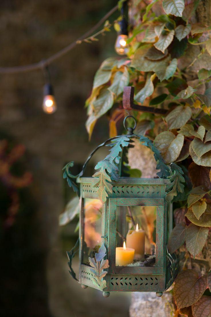 Verdigris Oak Lantern In House + Home Lighting + Candleholders At Terrain