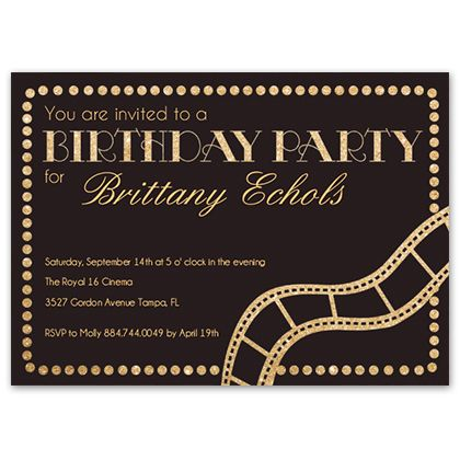 17 best ideas about hollywood invitations on pinterest | proms, Party invitations
