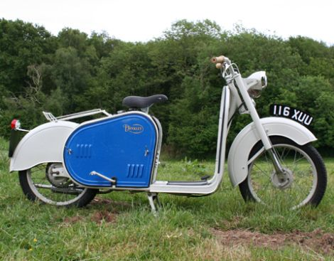 1959 Dunkley Popular Scooter  49cc 4-Stroke OHV Fan-Cooled 2-Speed