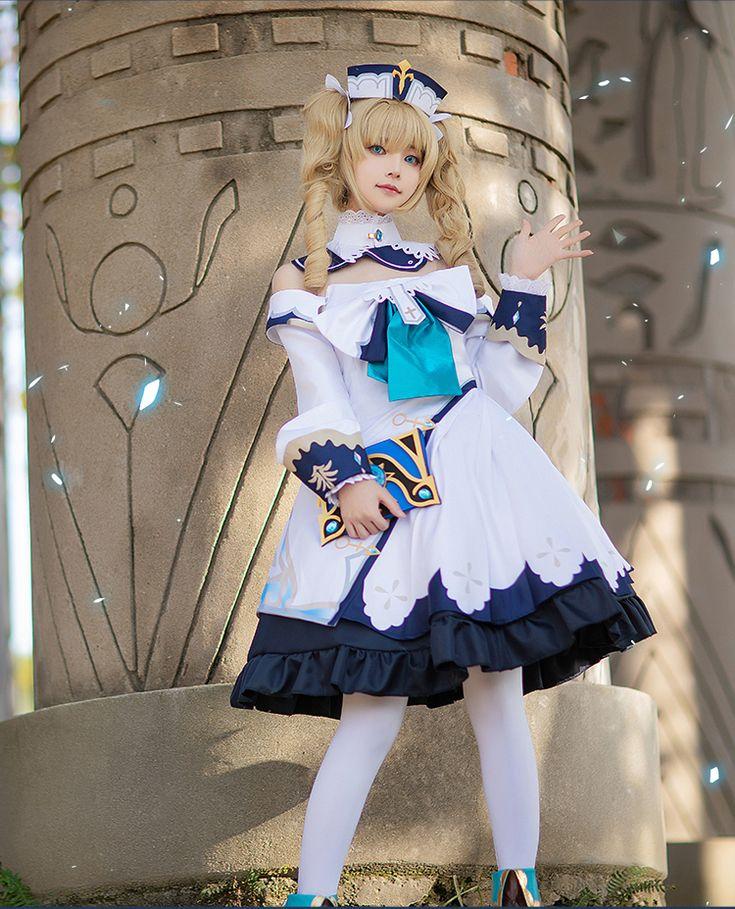 Genshin impact barbara cosplay costume barbara outfit