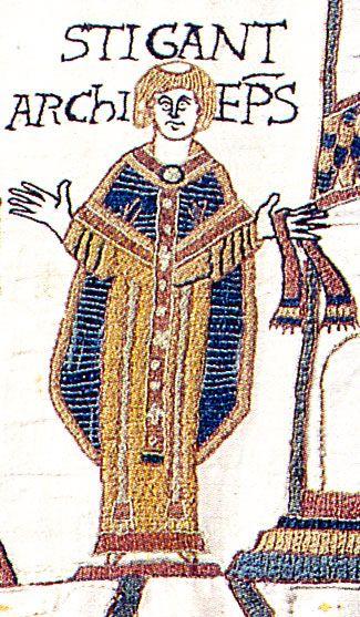 Het aartsbisdom van Canterbury raakte betrokken in het conflict tussen Koning Edward en Godwin. Edward benoemde Stigand tot aartsbisschop van Canterbury. De benoeming was een beloning van Godwin voor Stigands steun. Stigand was de eerste niet-monnik die tot aartsbisschop van Canterbury werd benoemd sinds de dagen van Dunstan (aartsbisschop van 959 tot 988. De paus weigerde om Stigands verheffing tot aartsbisschop te erkennen.
