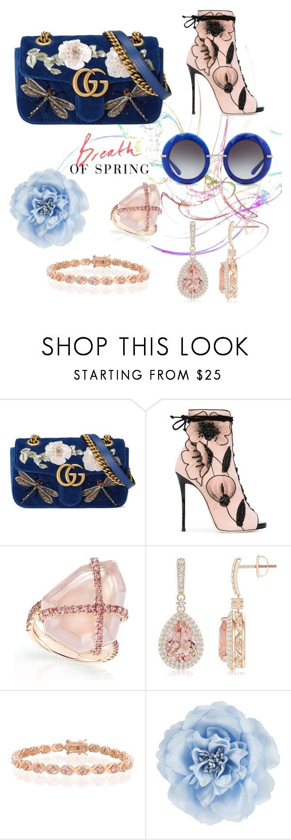 """Breath of Spring"" by nerdygets on Polyvore featuring Gucci, Giuseppe Zanotti, Bling Jewelry, Monsoon and Dolce&Gabbana"