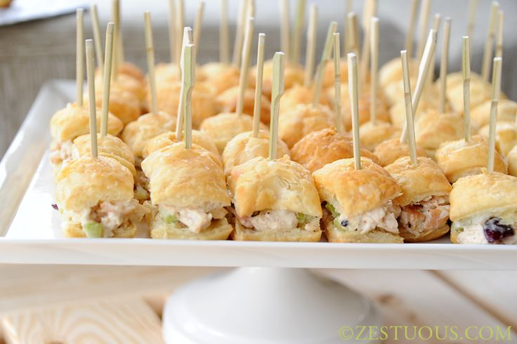These chicken salad puffs are one of my favorite potluck dishes. It can be made ahead of time, and it's always a party pleaser.