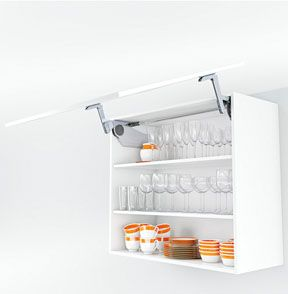 Wall Cabinet With AVENTOS Up And Over Lift System For Crockery