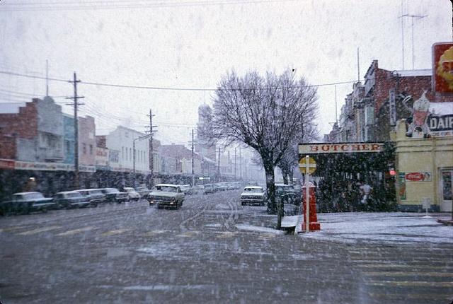 Dean Street Albury NSW, Snow, July 15th. 1966