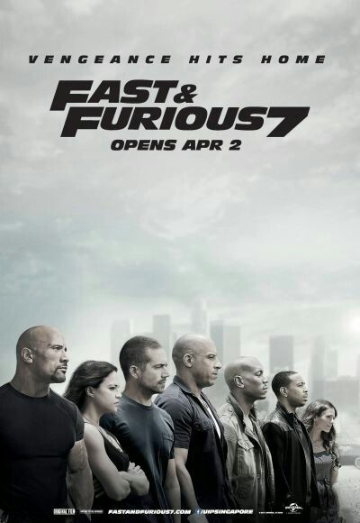 April 2015- Long awaited Movie. Fast & Furious 7. Last farewell to Paul Walker. @Causeway Point. 1st solo movie.