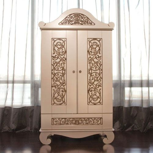 Chelsea Armoire in Antique Silver from PoshTots