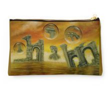 Studio Pouch,  ancient,temples,ruins,sea,sky,orange,golden,colorful,magical,impressive,fantasy,cool,beautiful,unique,trendy,artistic,unusual,accessories,for sale,design,items,products,presents,gifts,ideas,carry all pouch,redbubble