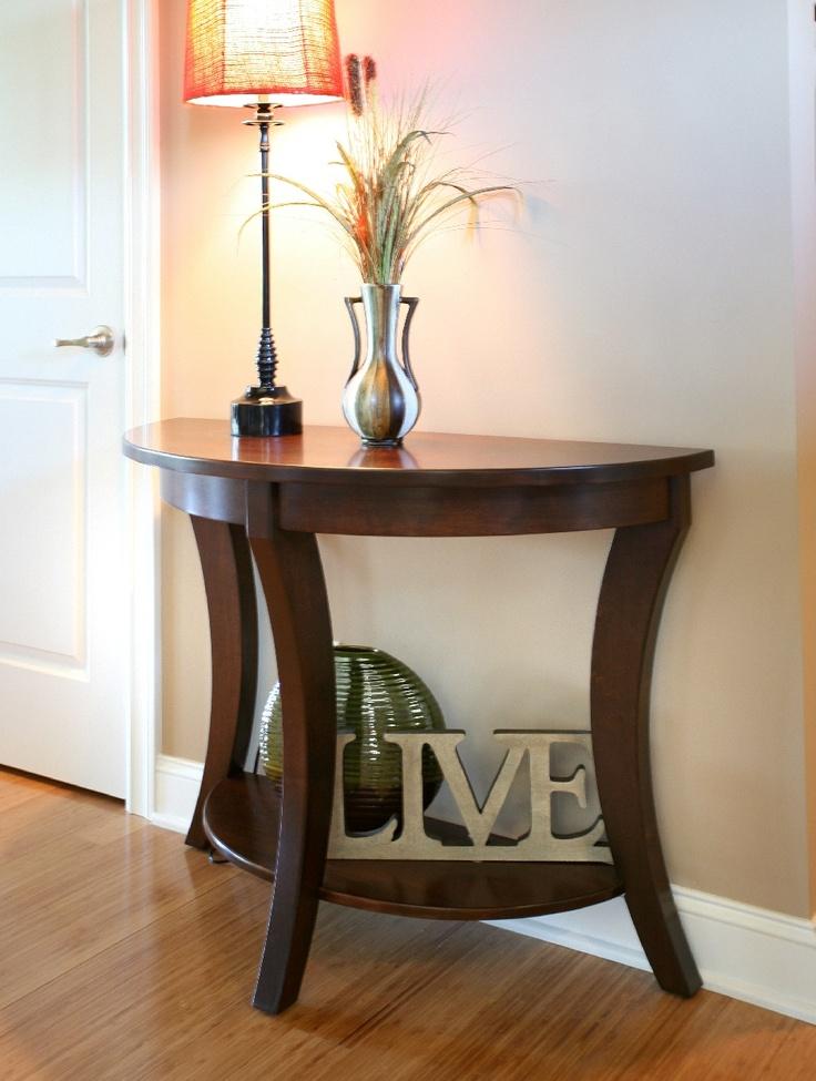 Superb Hallway Half Table, Perfect For Small Walkways. #halltable  #stonebarnfurnishings
