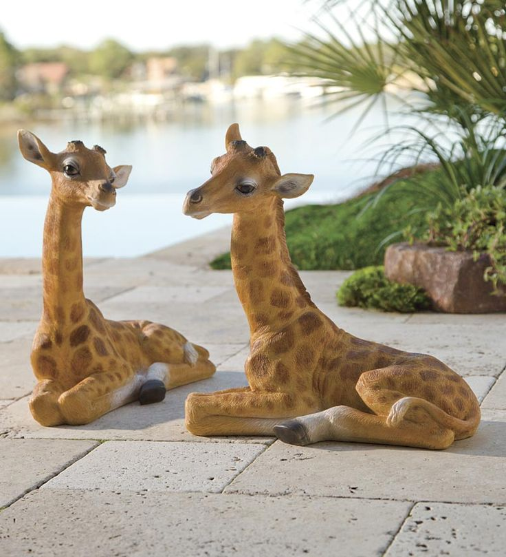 Baby Giraffe Garden Statue Would Love To Section Off My Back Yard To Make  It Look Like A Safari.love These Animals