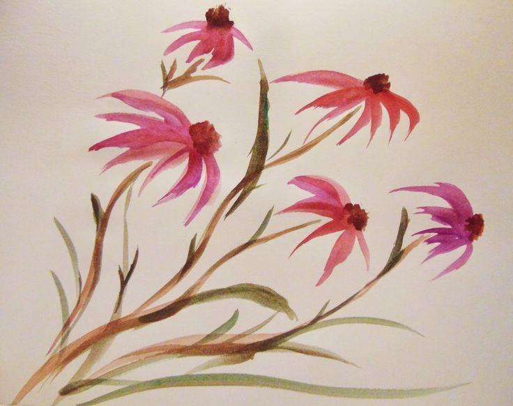 Kwiaty w akwareli - Anna Ewa Cisak