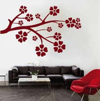 346 best Floral, Branch \\u0026 Tree Wall Decals images on Pinterest - designs for walls