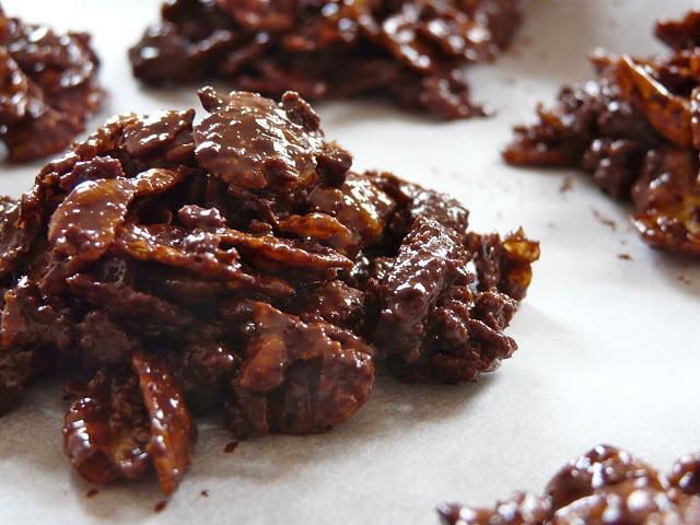Chocolate crossies with spiced cookies, delicious and fast to make (Schokocrossies mit Spekulatius, köstlich und schnell zu machen)