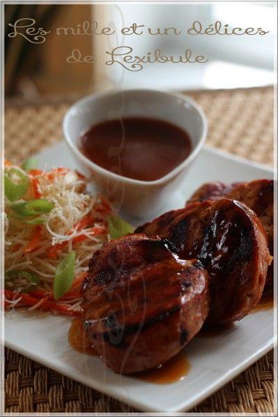 les milles & un délices de ~lexibule~: ~Médaillons de porc caramélisés et bien relevés~