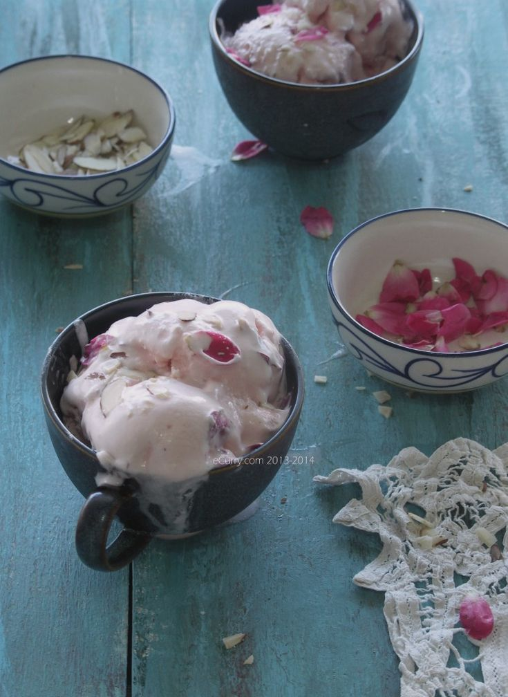 ... Ice-Cream | Recipes | Pinterest | Rose Ice Cream, Rose Petals and Ice