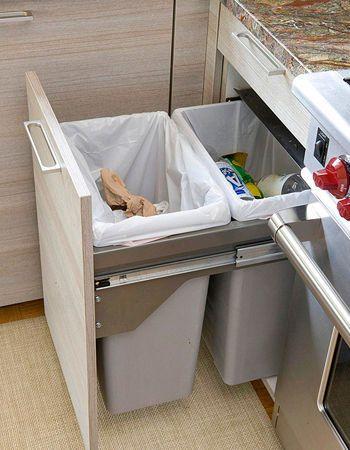 Double trouble - bin split for waste/recycle/compost (triple)