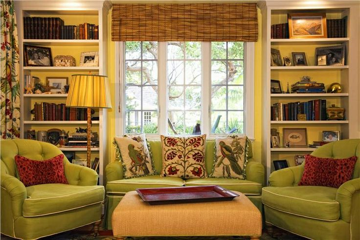 Yellow and green redecorating living room pinterest