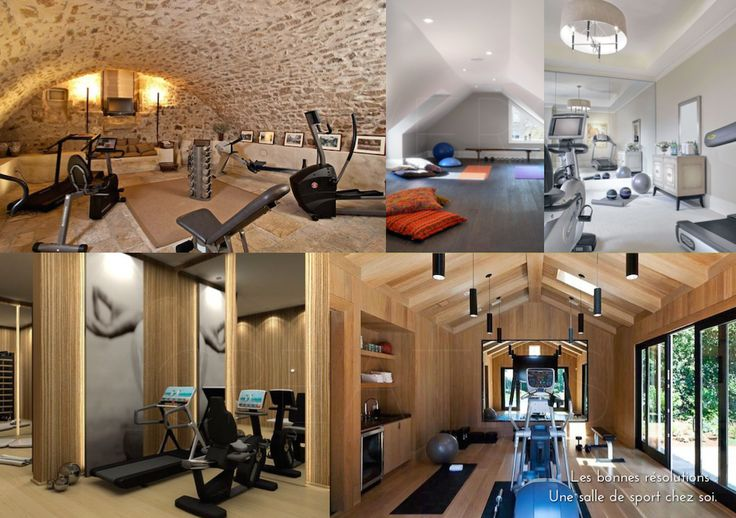 les 25 meilleures id es de la cat gorie salle de gym au sous sol sur pinterest salle de gym. Black Bedroom Furniture Sets. Home Design Ideas