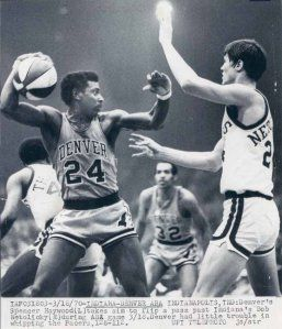 Rockets 69-70 Road Spencer Haywood, Pacers 3-18-1970