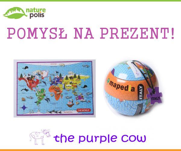 Mapa świata to coś, co każde dziecko powinno mieć :) Polecamy w wersji puzzlowej :)  https://www.naturepolis.pl/pl/puzzle/2948-the-purple-cow-puzzle-100el-mapedia-mapa-swiata-od-6-roku-7290014368705.html