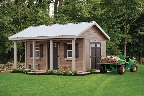 The Woodshed From Weaver Barns Features Two Windows An