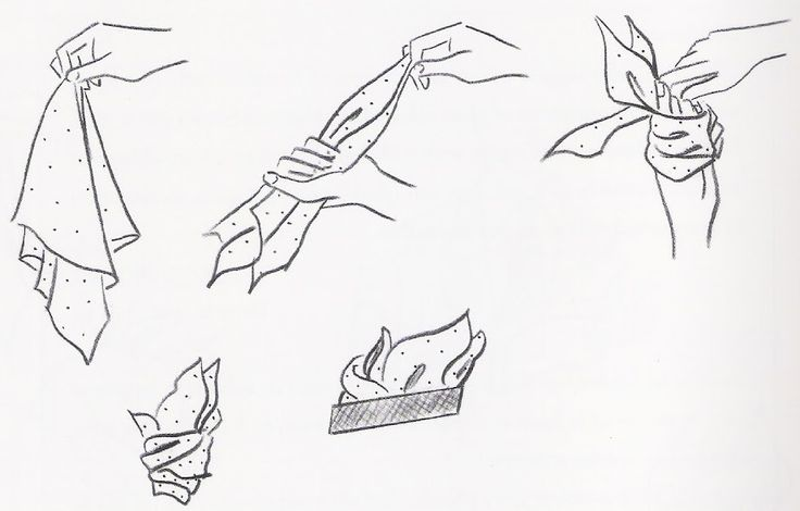 Cómo doblar pañuelo de bolsillo II