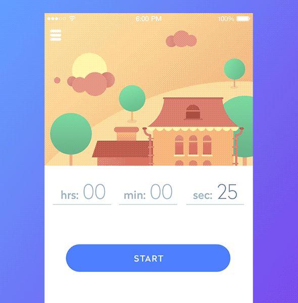 TimeLine App | Ui Parade | User Interface Design Inspiration