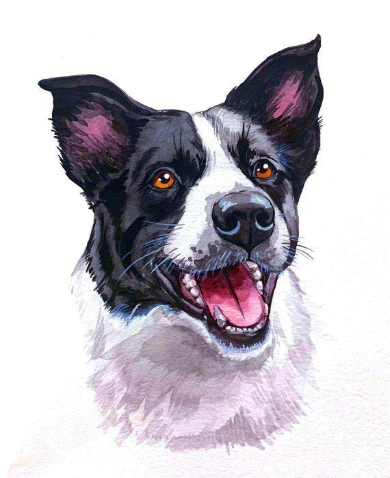 Custom Pet Portrait Pet Portrait Painting Dog Portrait Gift For
