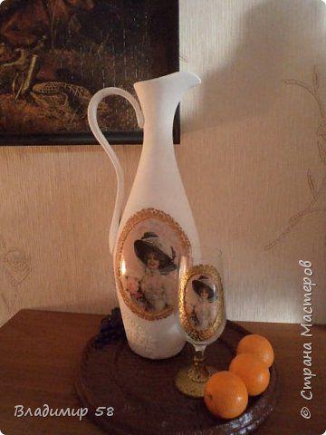Мастер-класс Поделка изделие Лепка Кувшин из простой бутылки Бутылки стеклянные Тесто соленое Шпагат фото 1