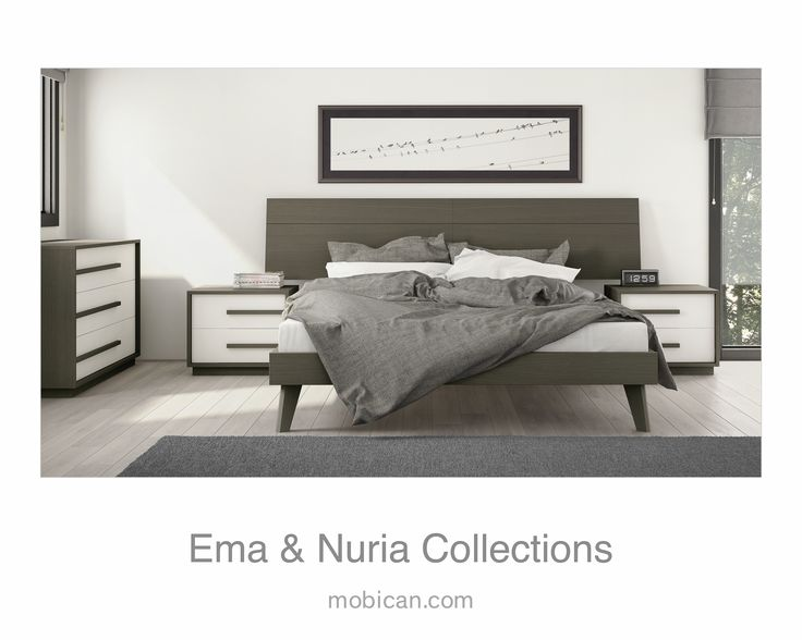 Click here to see how well Mobican's Ema bed and Mobican's Nuria fit together | Cliquez ici pour voir le lit Ema  et les meubles Nuria de Mobican ensemble: http://mobican.com/en/ema/ #mobican #madeincanada #bed #bedroom #furniture #HPMKT