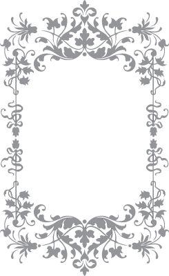 Floral and Vine Frame   Pre-Cut Patterns