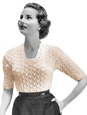 Textured Patterned Blouse Vintage Knitting Pattern for download S M L