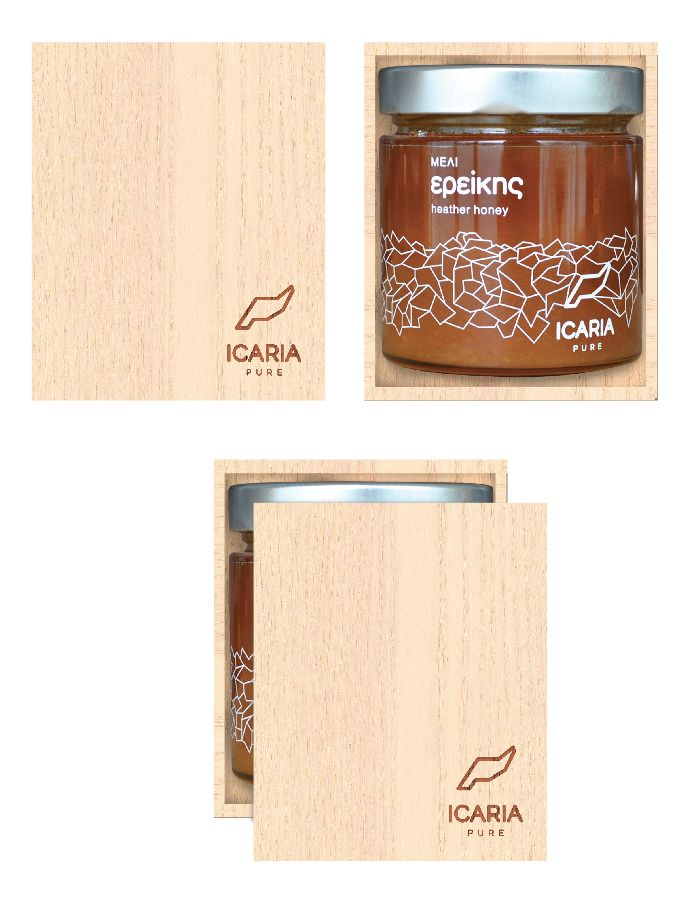 heather honey by icaria pure, healthy ikarian - greek food products