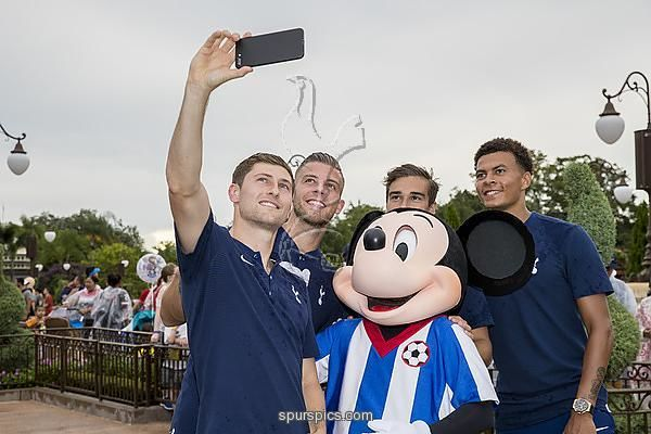 ORLANDO, FL - JULY 21: Toby Alderweireld, Dele Alli, Ben Davies and Harry Winks visit Magic Kingdom to surprise young Spurs fan, Zachary Parker, ride on Big Thunder Mountain and meet Mickey Mouse on July 21, 2017 in Orlando, Florida