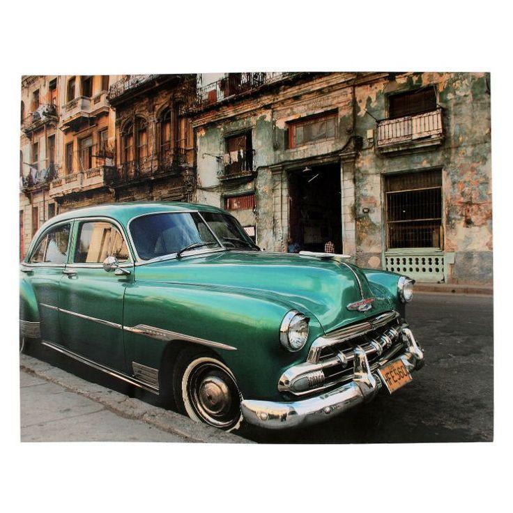 Πίνακας Cuba Car 110X140 Ένα χαρακτηριστικό κουβανέζικο αμάξι στην πιο όμορφη αποτύπωση του. Ψηφιακή εκτύπωση σε καμβά.
