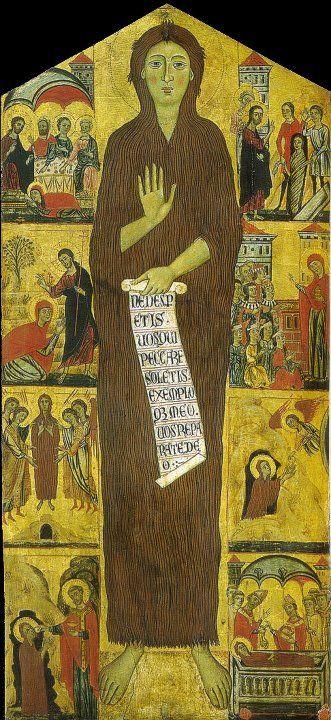 Maestro della Maddalena - Maddalena penitente e otto storie della sua vita 1280-1285.