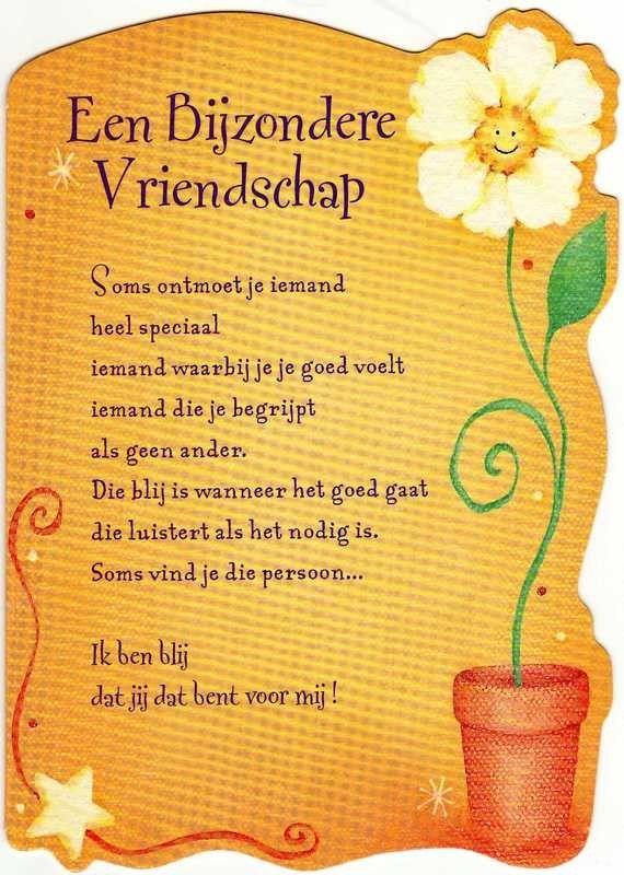 Bijzondere Vriendschap Vriend Gedichten Vriendschap En
