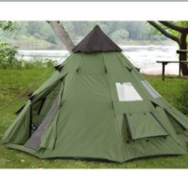 My next tent! One pole in the center. Tired of the multiple fiberglass poles with the bungee cord in the center.