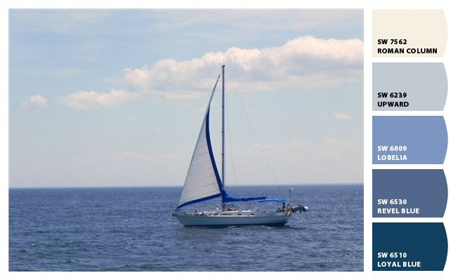 Inspired by the bay and a lone sailboat we adore this - Is blue a calming color ...