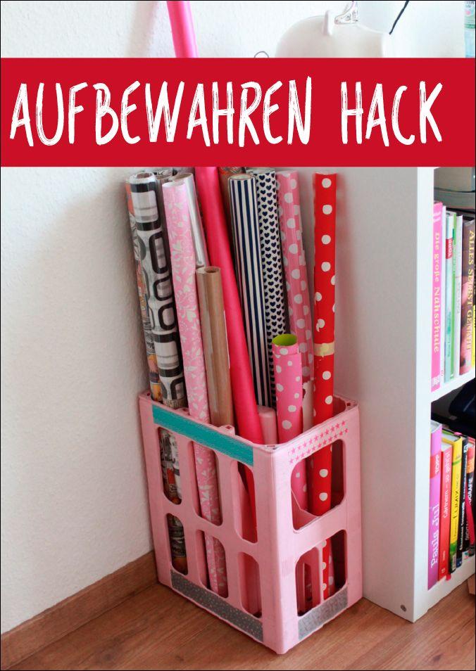 26 besten geschenkpapier aufbewahrung bilder auf pinterest. Black Bedroom Furniture Sets. Home Design Ideas