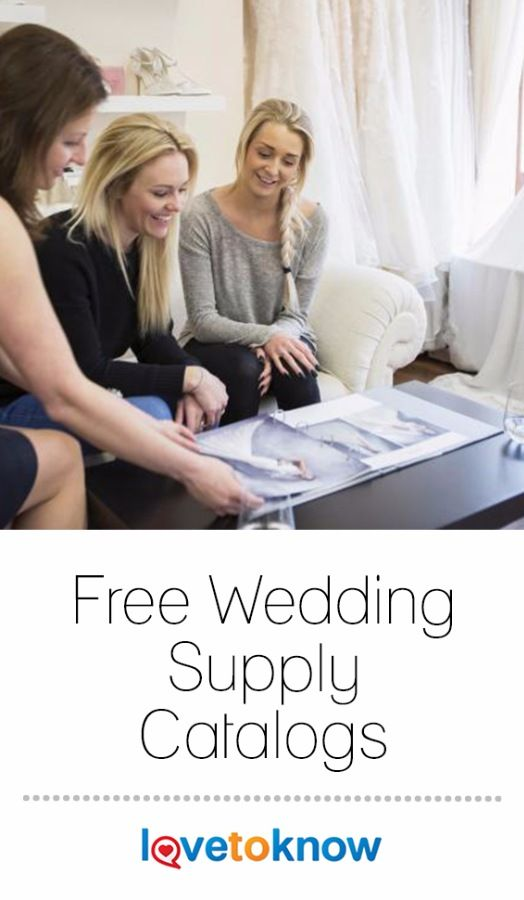 Using free wedding catalogs to plan your wedding is one way to save money. Instead of buying dozens of wedding magazines and trying to find the information you need, a wedding catalog puts what you need right at your fingertips. #wedding #weddingplanning | Free Wedding Supply Catalogs from #LoveToKnow