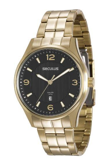 59d977dc4e6 20578GPSVDA2 Relógio Masculino Seculus Dourado Analógico
