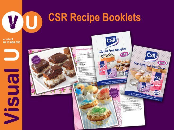 Visual U CSR Recipe Booklets
