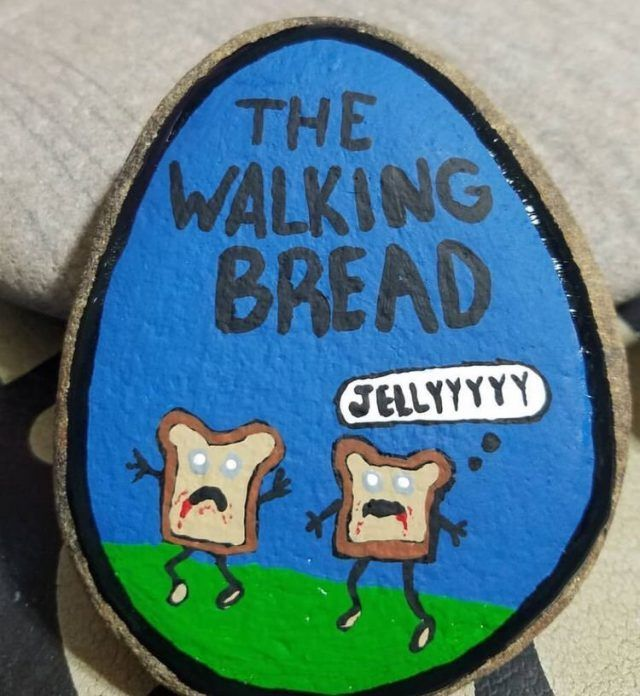 40 Punny Painted Rocks Just For Pun Funny Ideas To Try The Thrifty Kiwi Rock Crafts Rock Painting Art Painted Rocks