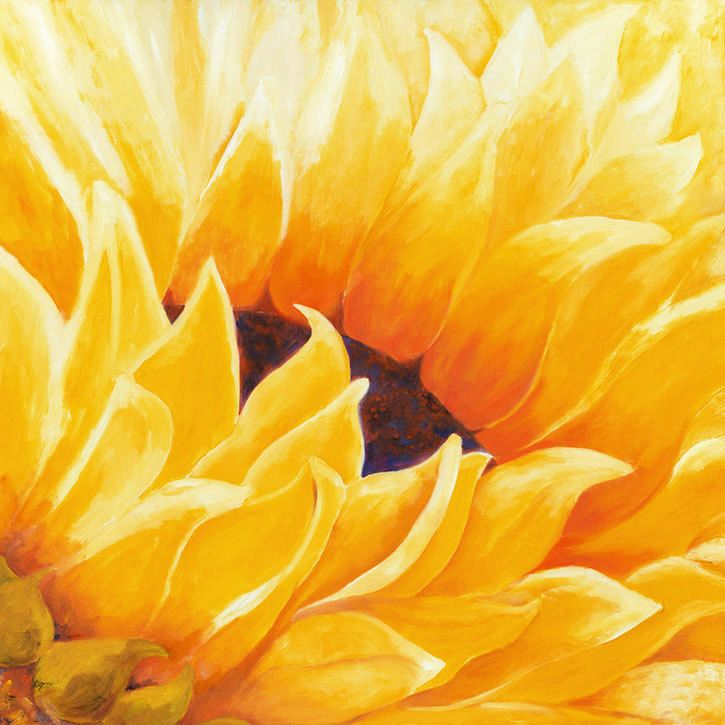 Sunflower Painting, Painting Oil, Sunflower Wall Art, Large Wall Art of Abstract…