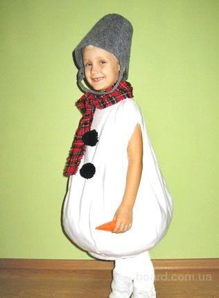Карнавальный костюм снеговик своими руками